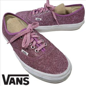 Pink Glitter Sparkly VANS Lo Pro Lace Up Sneakers